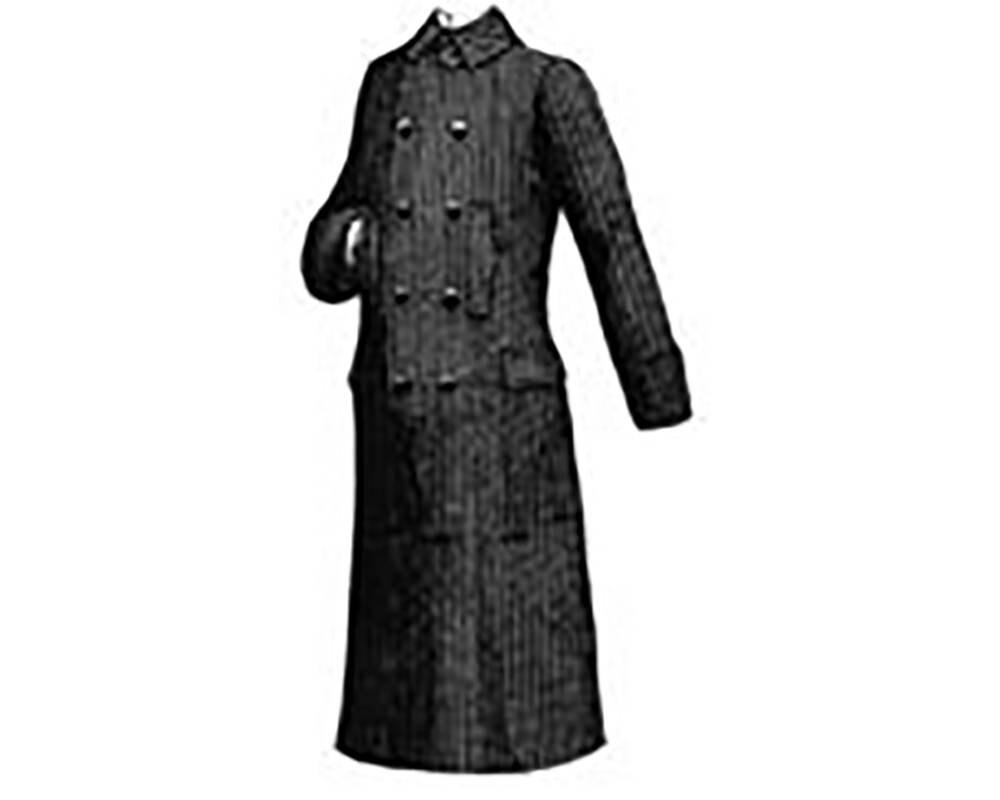 AG1270M 1888 Männer Ulster Mantel Schnittmuster von