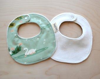 Neugeborenen, Baby Mädchen Halstuch in Schwanensee - Neugeborene Geschenk, Baby-Dusche-Geschenk, tröpfeln Bib