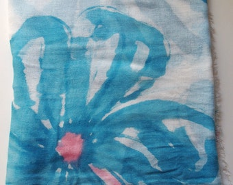 Big Blue - Hand Painted Summer Scarf