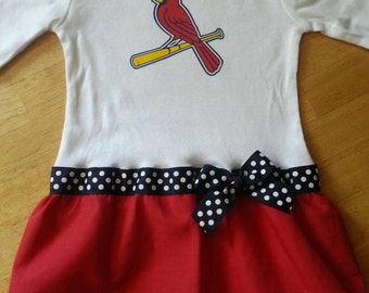 St Louis Cardinals inspired baby girl outfit