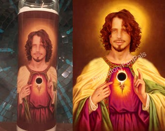 Saint Chris Cornell prayer candle