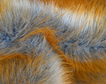 Realistic Faux Fur Red Fox As real fur Beautiful Red Faux Fur Fox Faux Fur for Teddy Bears and friends Fiery Fur Luxurious Fur Blanket
