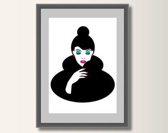 Fashion fashion posters, fashion art print, fashion illustration, fashion art, minimalist print, minimal print, Pop Art