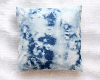 Sky Reverse Shibori Cushion Cover / Pillow Cover - Hand Dyed