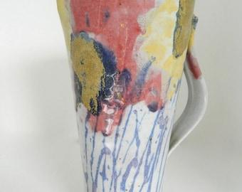 Janice Tchalenko (b. 1942), Studio Pottery Jug, Fine Art Ceramic