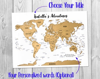 Scratch world map etsy scratch off personalized map a world of adventures golden scratch off gumiabroncs Images