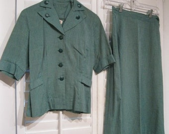 Vintage 1950s Girl Scout Uniform Size Small Jacket, Skirt & Beret