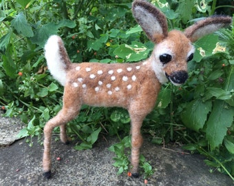 NEEDLE FELTED Soft Sculpture Fawn, Megan Nedds Instruction - Wynde