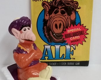 Combo Set- ALF Trading Cards and PVC Toy