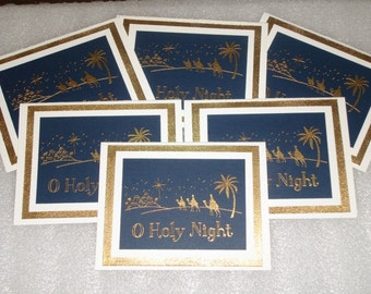 Christmas  Nativity Religious Christian Card O Holy Night Card Set