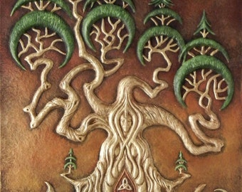 The Dreaming Tree - Cast Paper - Eclectic - Fantasy - Mother Nature - Tree with door - Mystical