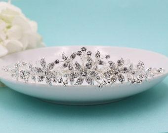 Swarovski Kristallbraut Diadem Kopfschmuck, Hochzeit, Hochzeit Kopfschmuck, Diadem, Strass Tiara, Marianna Swarovski-Kristall-Tiara
