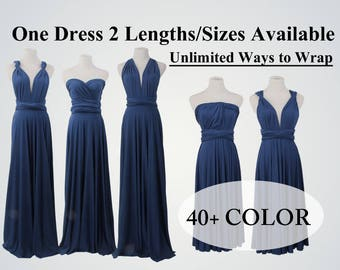 Navy Blue bridesmaid dress Long infinity dress Multiway dress light blue bridesmaid dress infinity wrap dress navy bridesmaid dress