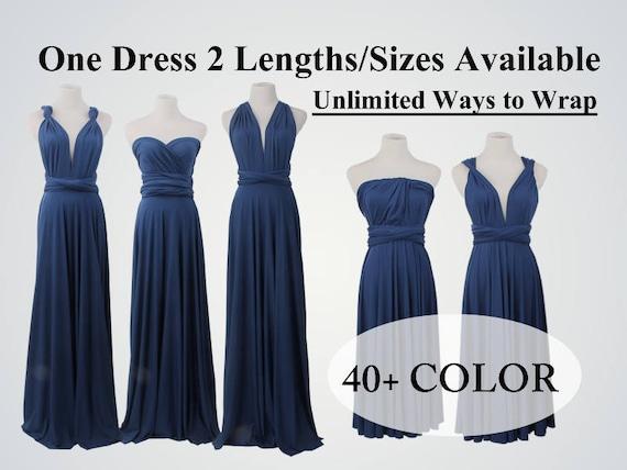 Navy Blue Bridesmaid Dress Long Infinity Dress Multiway Dress