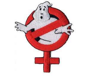 Ghostbusters Reboot Movie 2016 Iron On Patch Female Gender Indentifier Symbol from ZanzibarLand