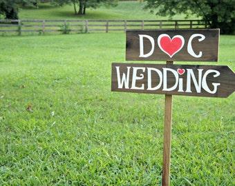 Wedding Beach Decor, Wedding Beach Sign, Wedding Personalized, Wedding Arrow Sign, Wood Arrow Sign, Wedding Directional Sign