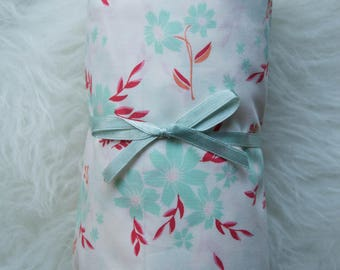 Teal and Red Floral//Changing Pad Cover//Crib Sheet