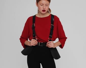 Leather Body Harness features Peplum Belt Fashion Harness Belt Harness Waist Harness for Women