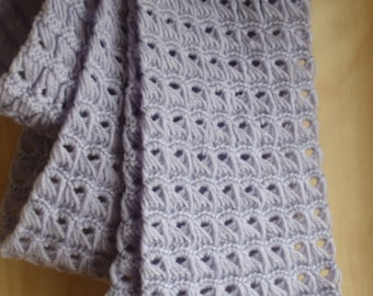 Hand Crocheted Broomstick Lace Scarf