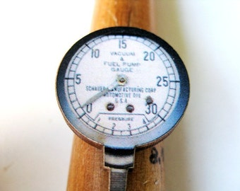 Steampunk Chic:  Antique Gauge Adjustable Ring