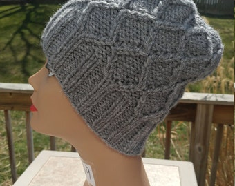 Lattice Cabled Knit Hat