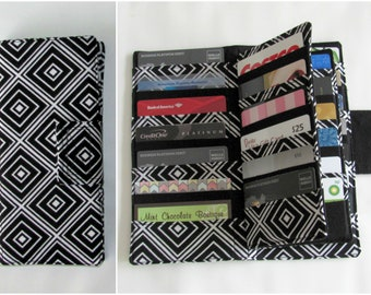 Card Organizer, Credit Card Wallet, Business Card Holder, Card Wallet, Gift Card Holder, Loyalty Card Wallet, Wallet, Black Diamond