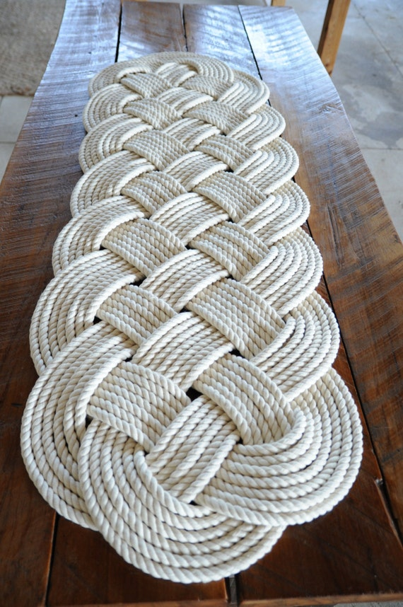Items Similar To Nautical Rope Rug Large Bath Mat Off