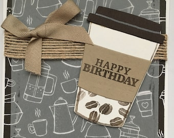 Coffee Break Birthday Card
