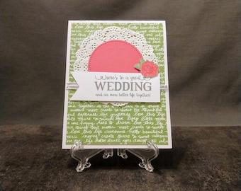 Handmade Card - Non-Fancy Wedding Card - Wedding Gift