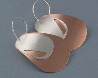 Copper and Silver Interchangeable Earrings