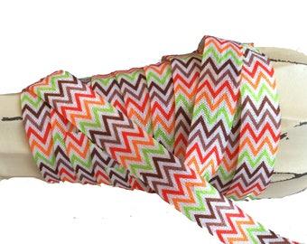 "5/8"" Fall ~ Chevron ~ Stripe ~ Fold Over Elastic ~ Headbands ~ FOE ~ Holiday"