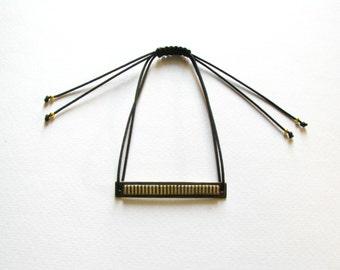 Oxidized Brass Bracelet-Contemporary Bracelet-Brass Bar Bracelet-Modern Bar Bracelet -Oxidized Bracelet-Contemporary Jewellery