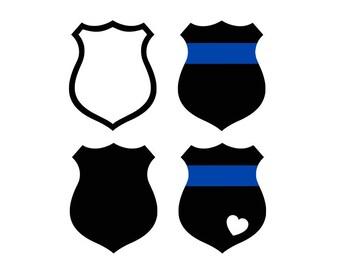 Police badge svg, thin blue line svg, police wife svg, police svg, blue line svg, svg file for cricut, silhouette, svg