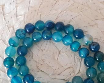 Blue Agate Thread. Ball.