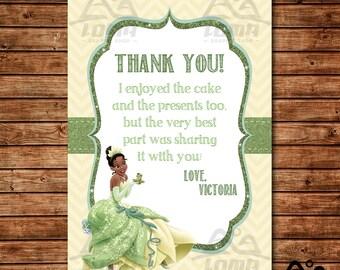 Tiana Birthday Thank You, Tiana Birthday, Disney Princess Thank You, Princess Birthday Thank You, Tiana, The Princess and the Frog