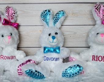 Handmade easter gift for boys etsy personalized stuffed animal bunny lamb bear kids birthday gift personalized stuffed negle Gallery