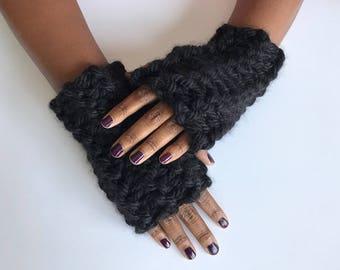 Chunky Knit Fingerless Gloves