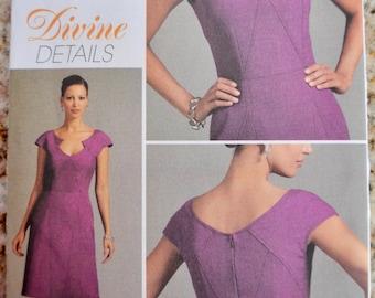 Vogue V8576 Divine Details Fitted Dress Sewing Pattern Size 12-18 UNCUT