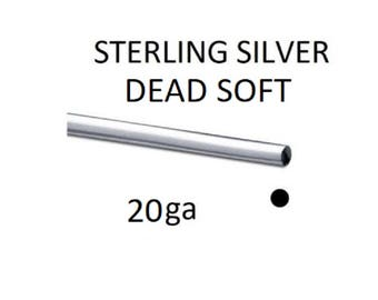 925 Sterling Silver 20ga (0.80mm) Half Hard Round Jewellery Wire Wrapping