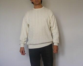 Burlington White Cotton Sweater