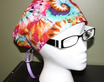 Tye-Dye Surgical Scrub Hat