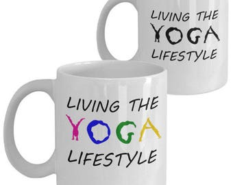 Yoga Lifestyle Mug, Yoga Mug, Yoga Lover Mug, Yoga Gift, Yoga Lover Gift, Yoga Teacher Gift, Gift for Yogi, Yoga Accessories