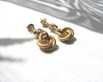 Gold Love Knot Post, Stud Earrings 14k Gold Filled, 14k Gold Filled Leverbacks, or French Hooks