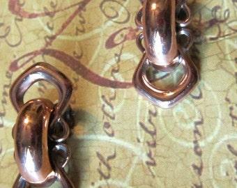 Vintage RENOIR MATISSE Genuine Copper Clip Earrings