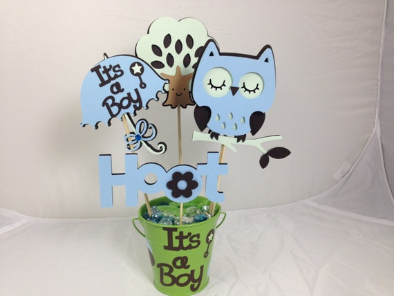 baby shower table centerpiece decoration it s a boy owl