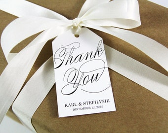 Thank You Tags - Wedding Favor Tags - Custom Wedding Tags - Party Favor Tags - Thank You Tag - Thank You Label - Large