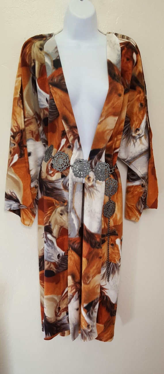 Print Southwestern Festival Pony Wedding Fleece Maxi Tribal Party Coat Unisex w66qxOI4