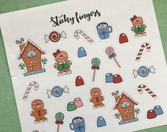 Christmas Stickers, Planner Stickers, Stickers, Cute Stickers, Erin Condren Planner Stickers, Bullet Journal stickers, Stickers Pack