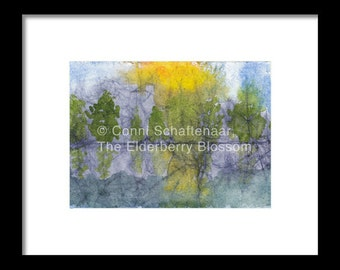 Father's Day  Gift Idea Instant Print Download 5x7 Print from Watercolor Abstract Landscape  for matting and framing