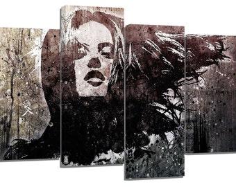 "stunning graffiti woman face/set of 4 new frames/ 32""x 20"""